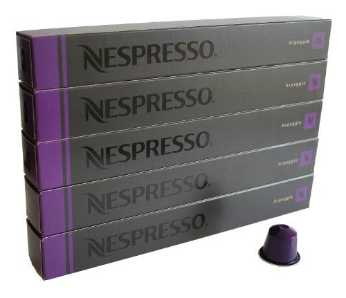 Nespresso Capsulas lila - 50x Arpeggio - Original Nestlé - Espresso cafe - Surtido
