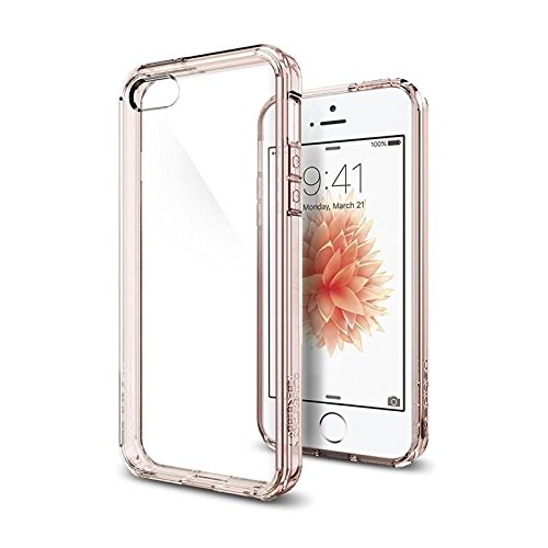 Spigen Coque iPhone 5S / 5 / Se, [Ultra Transparente] Sillicone Rigide [Rose Crystal] Coque Original Housse Etui Anti-Choc pour 5S / 5 / Se (SGP10640)