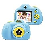 Vetté Digitalkamera Für Kinder mit 16GB MicroSD Speicherkarte - Eingebauter Akku, 2 Doppelobjektivkamera, 8MP, 1080P HD Videofunktion, TFT LCD Bildschirm Kindergeschenk (Blau)