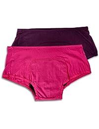Adira Women Pack of 2 Boxers/Period Panties (for High Flow)