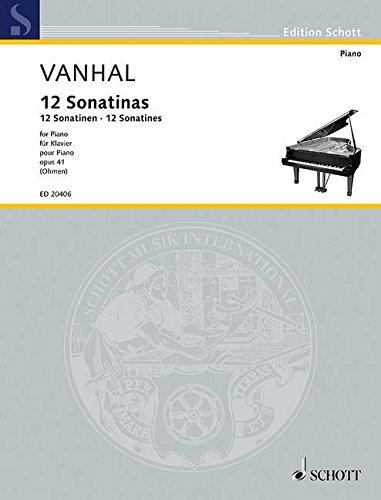 Partitions classique SCHOTT VANHAL J.B. - 12 EASY ...