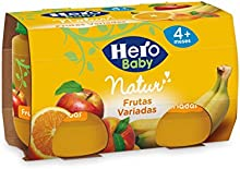 Hero Baby - Natur Frutas Variadas 4 Meses. Sin gluten 240 gr - Pack de 6 (Total 1440 gr)