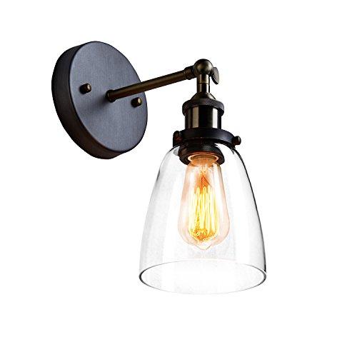 CLAXY Vintage E27 Wandleuchten Deckenleuchten Schwenkbar Glas Lampenschirm für Haus Dekoration (Glas-deckenleuchte Vintage)