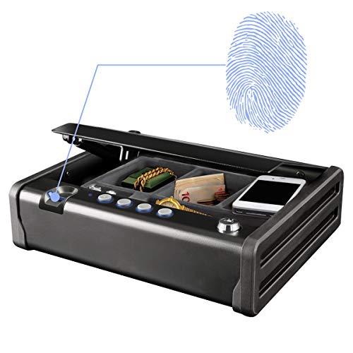 MASTER LOCK Caja Fuerte Compacta Biométrica [Apertura con Huella Dactilar y Combinación] MLD08EB ...