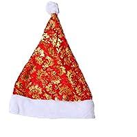 HEJIANGTAO Regalo de decoración, niño, Gorro navideño para Adultos, Estampado Grueso.