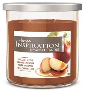 Home Inspiration by Yankee Candle – Apfel Karamel – Duftkerze im großen Glas mit Deckel
