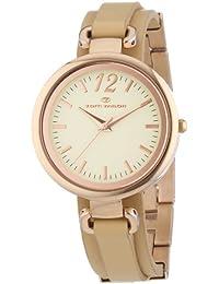 Tom Tailor  0 - Reloj de cuarzo para mujer, con correa de cuero, color marrón