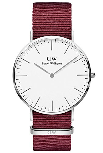 Daniel Wellington Unisex Adult Analogue Quartz Watch with Nylon Strap DW00100268