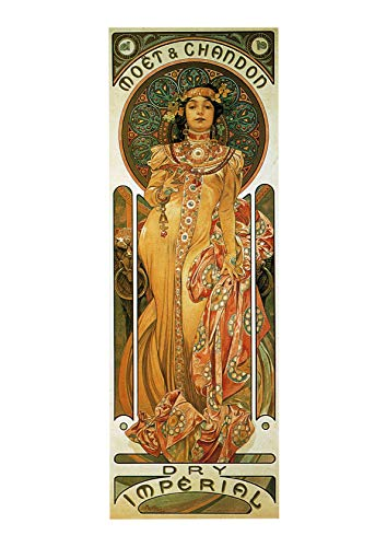 Spiffing Prints Alphonse Mucha Chandon Cremant Imperial - Extra Large - Semi Gloss - Framed