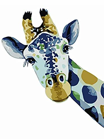 OBELLA Painting by Numbers Kits || Giraffe 50 x 40 cm || Paint by Numbers, Digital Oil Painting, Frameless