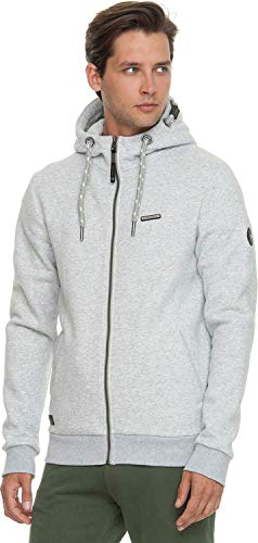 Ragwear Nate Hooded Zipper Light Grey -