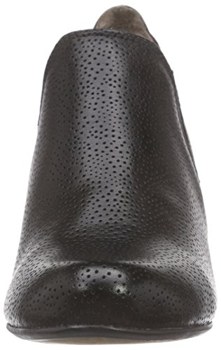 Jana24308 - Stivali classici imbottiti a gamba corta Donna Nero (Nero (Black 001))