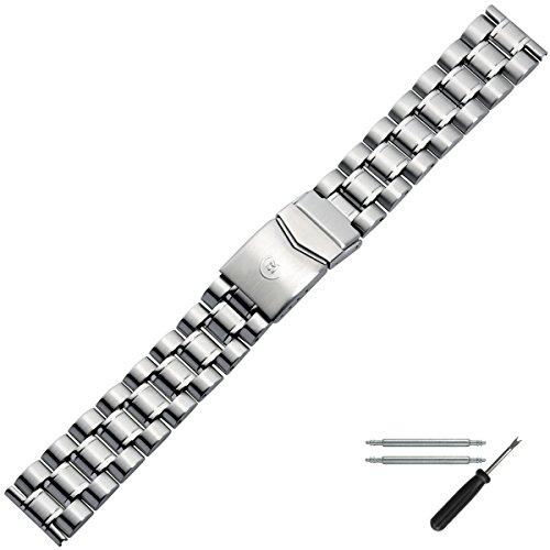 nd 20 mm Edelstahl Silber - Edelstahl - Inkl. Zubehör - Ersatzarmband, Schließe Silber - 88508030020 ()