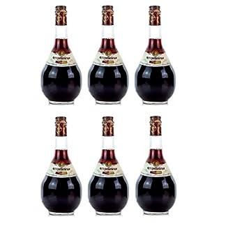 6x-Ampelicious-Rot-trocken-je-250ml-11-griechischer-Wein-in-kleinen-Flaschen-Rotwein-dry-Probiersachet-10ml-Olivenl