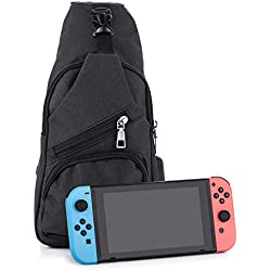 Mochila para Nintendo Switch de Myriann Fashion, mochila para un jugador élite de Nintendo Switch., negro