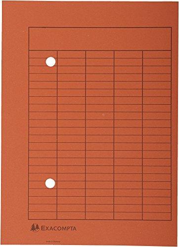 Exacompta 353509B Packung mit 100 Umlaufmappen (Recycling-Karton, 250g, Organisationsdruck, DIN A4) 1 Pack orange
