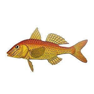 Miniblings Koi Glodfisch Brosche Anstecknadel Karpfen Fisch Holz Lasercut 75mm