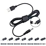 TAIFU 5V 9V 12V 17V 1A 2A 3A USB DC Connecteur Adaptateur de Cable to 5.5*2.1mm avec 7 Embouts 2.5*0.7/ 3.5*1.35/4.0*1.7/4.8*1.7/5,5 *1.7/ 5.5*2.5 / Micro USB Pour Tablet,Samsung Cellphone,JBL Pulse