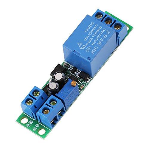DC 12V Delay Relay Module Board 0-25 Sekunden Einstellbares Timer Relais Ein- / Ausschaltmodul mit Optokoppler Isolator -