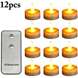 Outgeek 12PCS Christmas LED Candle Creative Decorative Flameless Candle With Remote Control