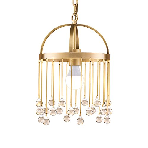 CL@ Nordic Copper Chandelier - Personnalité Creative Moderne Simple Verre Café Drop Bar Restaurant Salon Unique Plafonnier Taille -25x40cm Lustre
