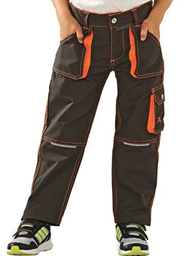 6112 Planam Basalt Junior Bundhose in verschiedenen Farben, Arbeitshose für Kinder (98/104, oliv-orange)