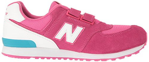 New Balance Kv574czy M Hook and Loop, Baskets Basses Mixte Enfant Rose (Pink)