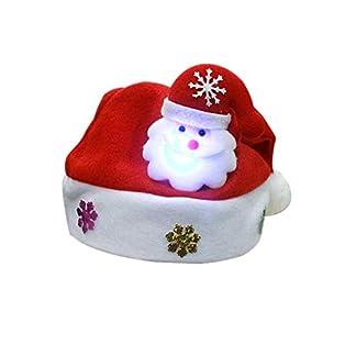 Kappha Sombreros navideños con luz LED Gorro de Santa Gorro navideño Papá Noel Fiesta de Navidad Mercado navideño Adultos y niños