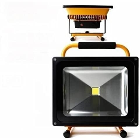 MCTECH 50W Batteria Torcia A LED Giallo Spotlight Lampada Proiettore