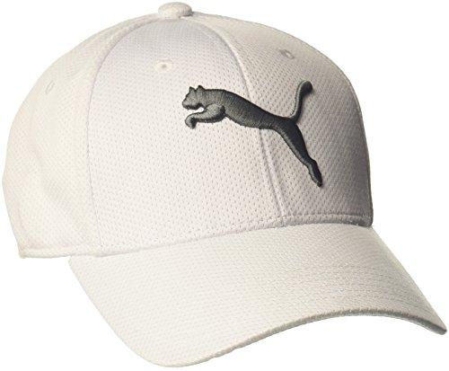 PUMA Herren Evercat Alloy Stretch Fit Baseball Cap, weiß, Small/Medium