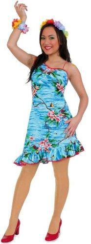 FASCHING 10615 Kostüm Kleid Hula, Hawaii-Kleid, Hawaiianerin: Größe: 34