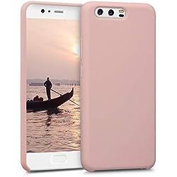 kwmobile Coque Huawei P10 - Coque pour Huawei P10 - Housse de téléphone en Silicone Or rosé Mat