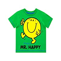 Mr Men Boys Mr. Happy T-Shirt Green Age 6 to 7 Years
