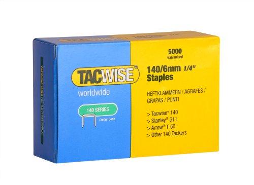 Tacwise 0340 Boîte de 5000 Agrafes galvanisées 6 mm Type 140