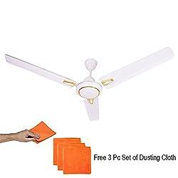 Eurolex Victor Supreme 75Watts 1200mm (48 Inch) Ceiling Fan (White)