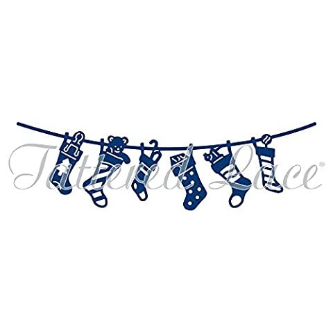 Tattered lace metal die d850 Christmas stocking washing line