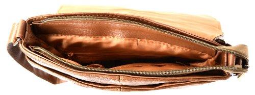 Borsa A Tracolla / A Tracolla In Pelle Da Donna, Nero, Marrone, Testa Di Moro) Marrone Chiaro