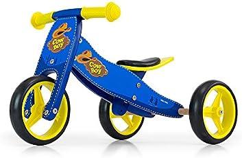 JAKE Fahrrad 2 in 1 Dreirad und Laufrad aus Holz, Kinderfahrzeug mit Schaumräder