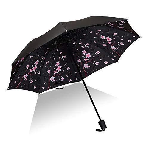 SHILILI Männer Und Frauen Sonnenschutz Regenschirm Uv-Schutz Winddicht Falten Kompakte Outdoor-Regenschirm