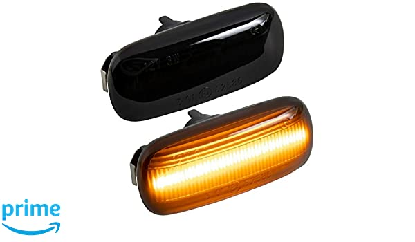 2 x LED Side Blinkers Smoke Black Pair for A4 B6 B7 A6 C6 A3 8P SB18