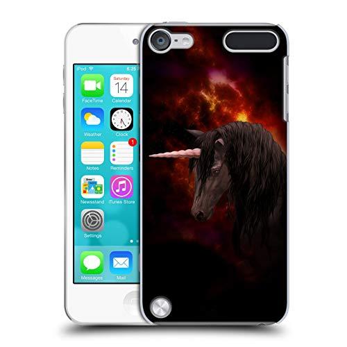 Head case designs ufficiale simone gatterwe nero unicorno cover dura per parte posteriore compatibile con ipod touch 5g 5th gen