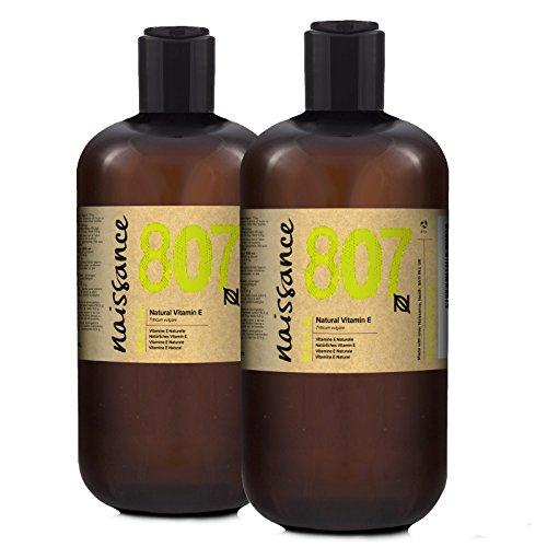 Naissance Olio di Vitamina E Naturale, Vegano, Cruelty Free, senza Esano, senza OGM - 1L (2x500ml)