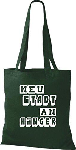 Shirtstown Stoffbeutel lustige Sprüche Neustadt Anhänger viele Farben gruen