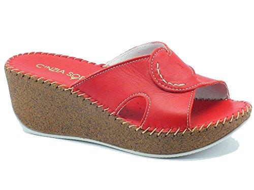 Cinzia Soft  IU880914L Fiore Rosso, Damen Sandalen Rot Rosso Rosso
