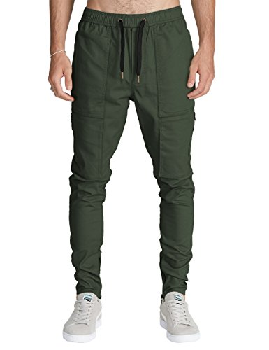 Herren Twill Cargo (Italy Morn Herren Cargo Chino Hose Sweatpants Sport hose Jogging Baggy Jogging hose Slim Trainingshose Cargo Pants Twill S Armeegrün)