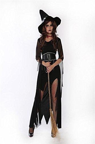 Kleid Mit Kostüm Schwarzen Scary - LLY Halloween-Party schwarzen Kleid Bühne Kostüme Rollenspiel, l
