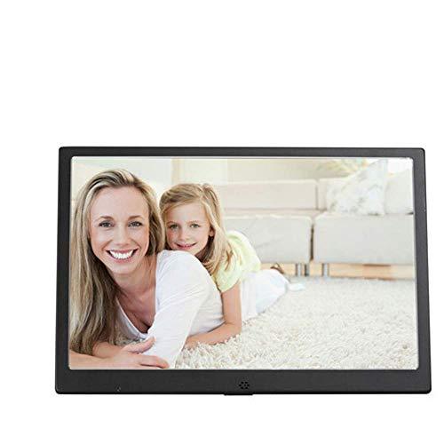 SMDFDN Digitaler Bilderrahmen aus 12-Zoll-Aluminiumlegierung HD, digitaler Desktop-Bilderrahmen mit LED-LCD-Rahmen, Musik-Film-Player 1280 * 800