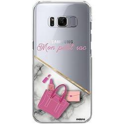 Evetane Coque Compatible avec Samsung Galaxy S8 Plus Transparente Rigide Solide Mon Petit Sac Ecriture Motif Tendance