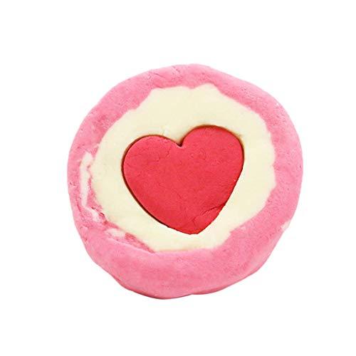 TOOGOO Herz F?rmige Bade Bomben Trockene Blume Schaum Salz Bad Ball Haus Spa mit Geschenk Box, Unterschiedlicher Duft, Alle Haut Kann Verwendet Werden - Herz-bade-bombe