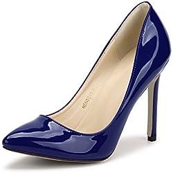Ochenta Mujer Escarpins Bride Tobillo Sexy TACš®n de Aguja Plataforma Epais Cierre Cordones Club Soiree, Ice Blue (6198 Ice Blue), 39.5 EU